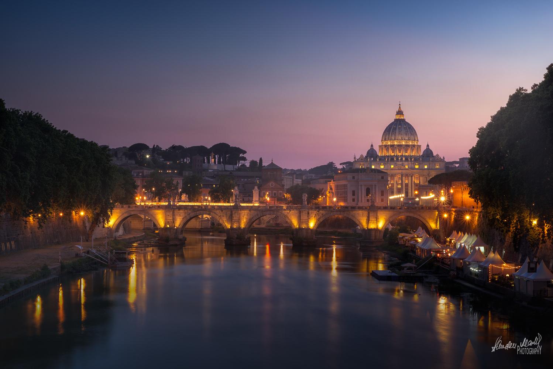 Sunset over the Vatican by SANDEEP MATHUR