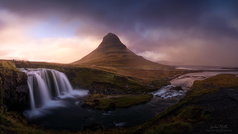 The Church Mountain Waterfall - Kirjufellfoss by SANDEEP MATHUR