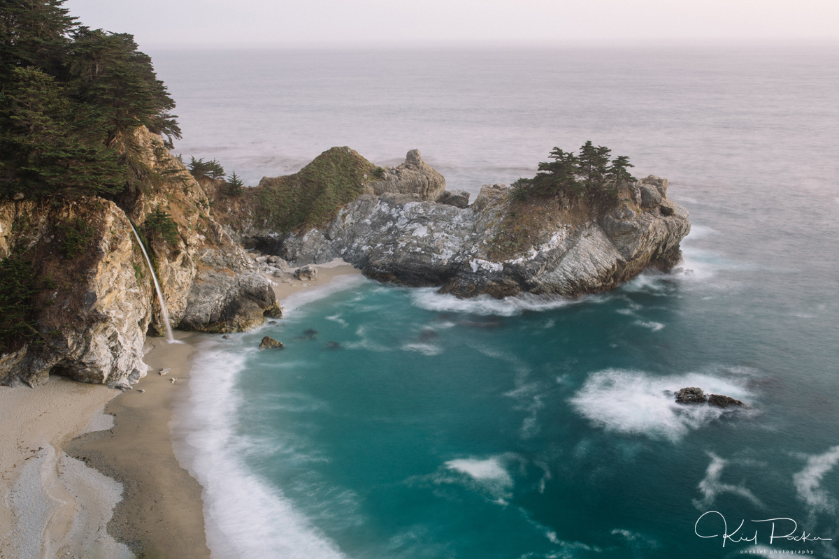 McWay Falls after Sunset by kiel rucker