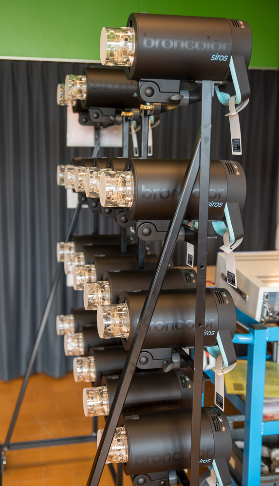 broncolor Siros testing rack by Will Prentice