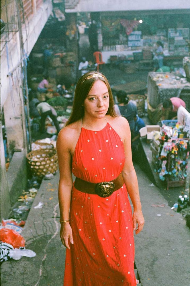 cecilia at the pasar on 35 mm film by Mark Chaves