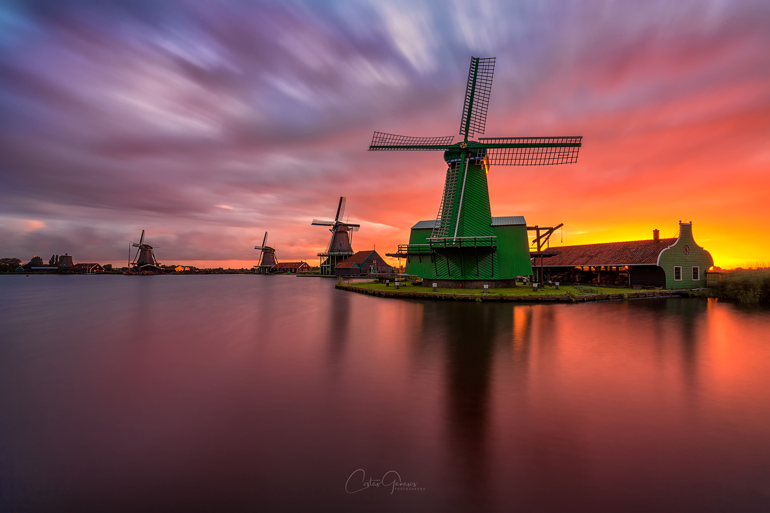 A sunrise to remember in Zaanse Schans by Costas Ganasos