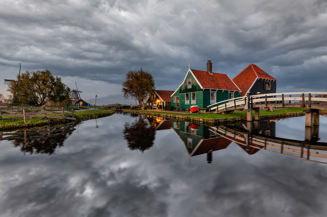 Stormy day in Zaanse Schans by Costas Ganasos