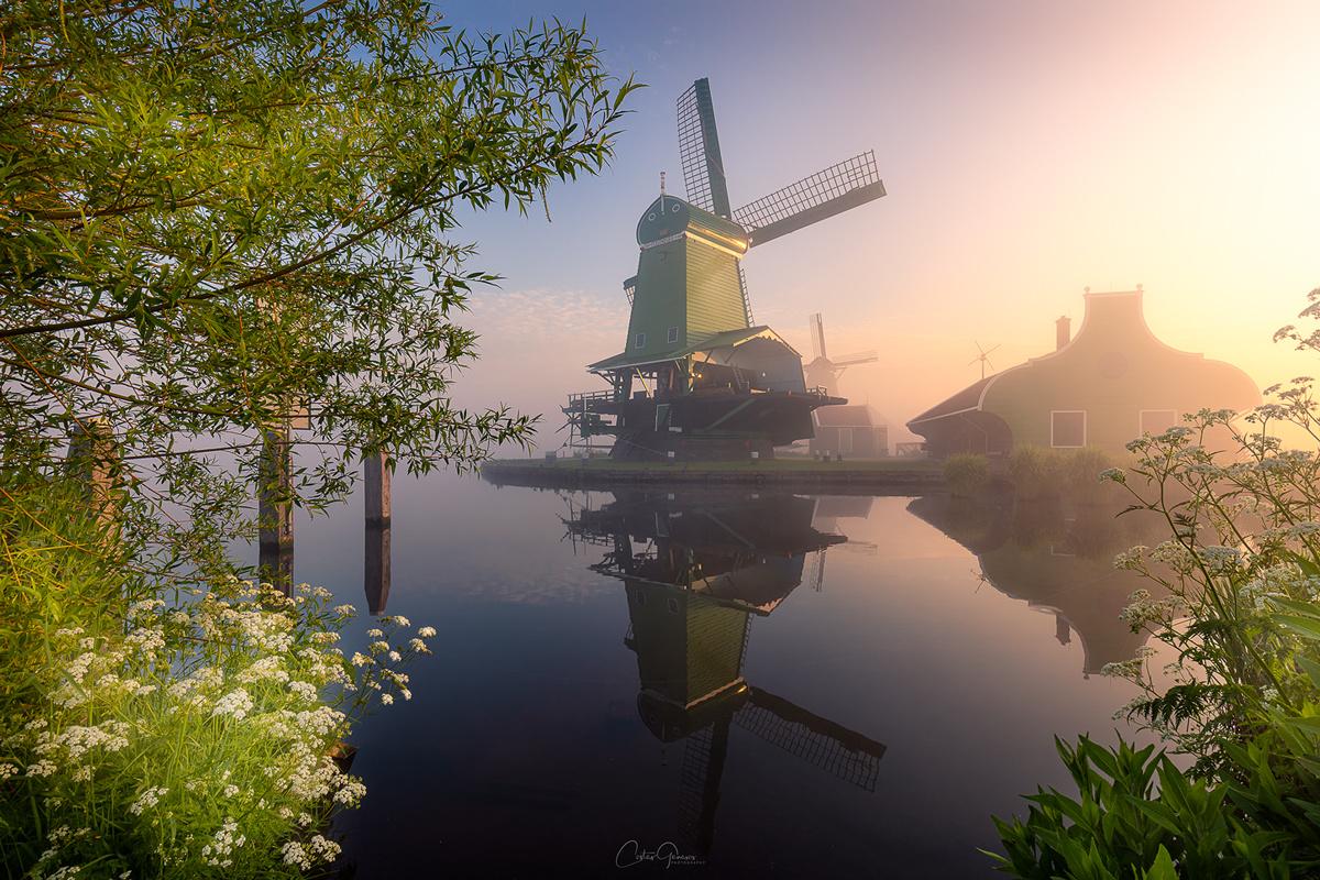 Misty morning in Zaanse Schans by Costas Ganasos