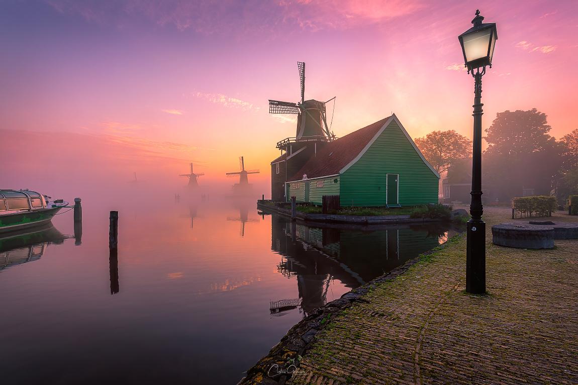 Mesmerising sunrise by the Zaanse Schans by Costas Ganasos