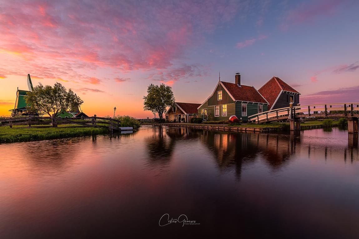 Yet another sunset in Zaanse Schans by Costas Ganasos