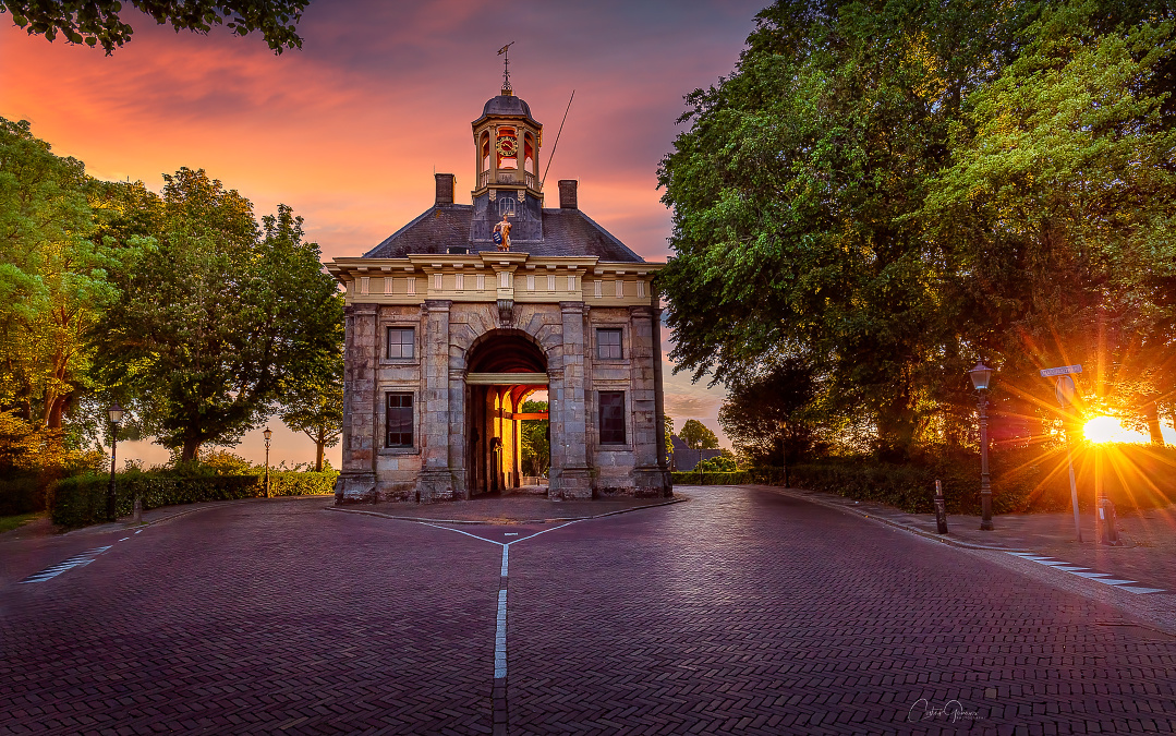 The city gate of Enkhuizen by Costas Ganasos
