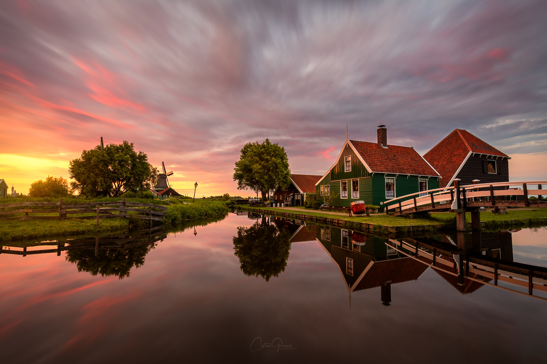 Summer evening in Zaanse Schans by Costas Ganasos