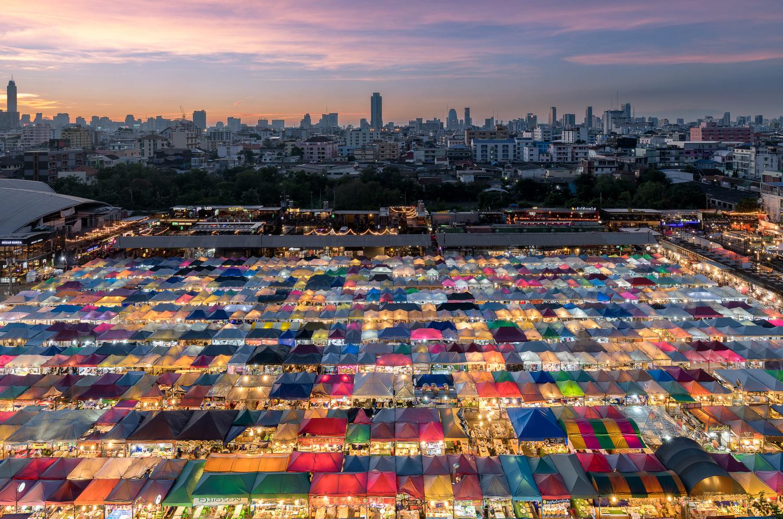Bangkok's Night Train Market by Will Reynolds
