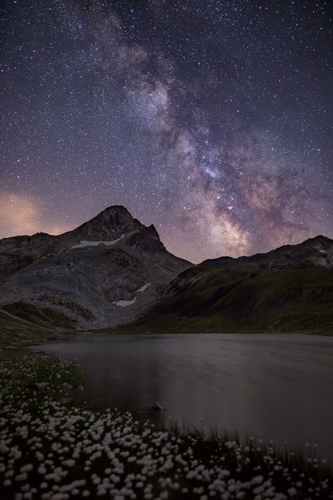 Night at the Mountain Lake by Michel Visentin