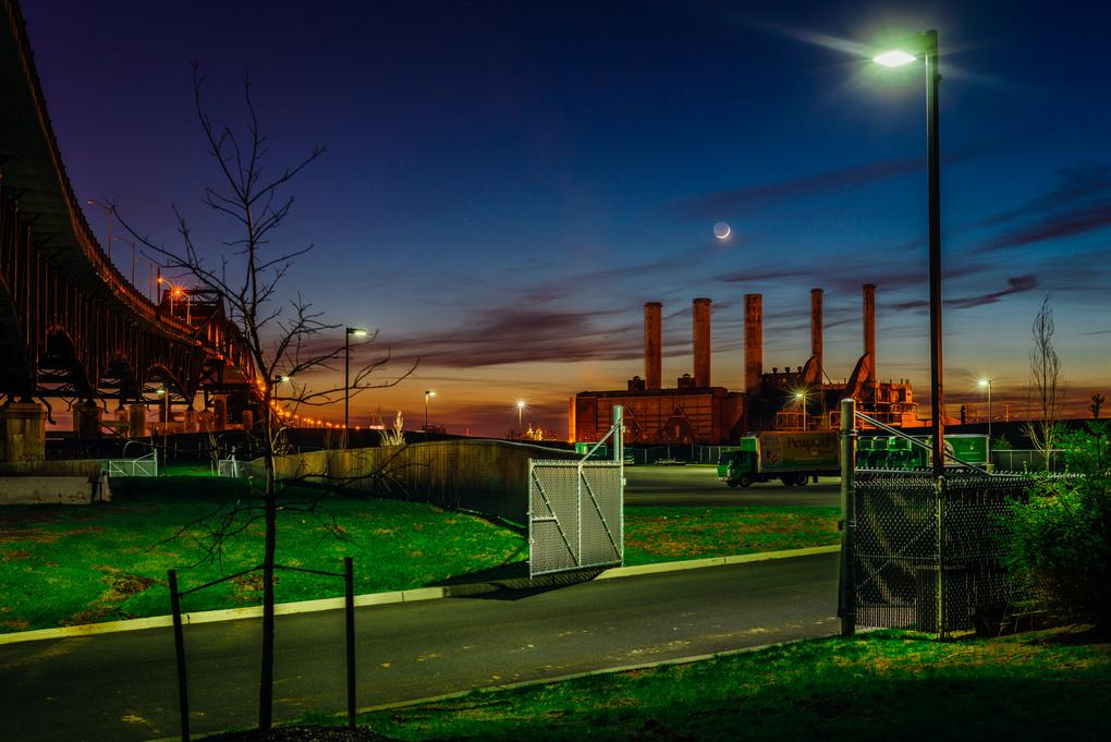 Powerplant, Pulaski Skyway, Jersey City NJ by Stephen Fretz