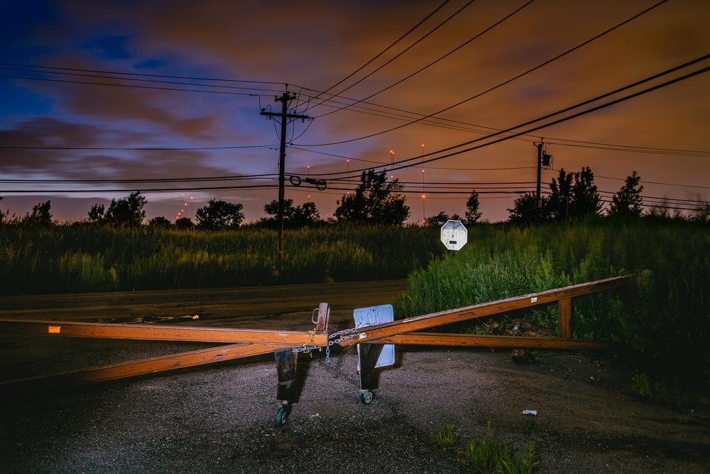 A Gate In The Meadowlands, Lyndhurst NJ by Stephen Fretz