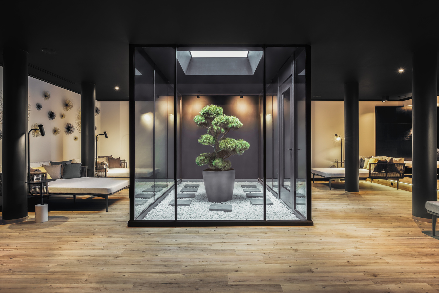 Relaxation Room & Natural Light Atrium. by Matthias Dengler