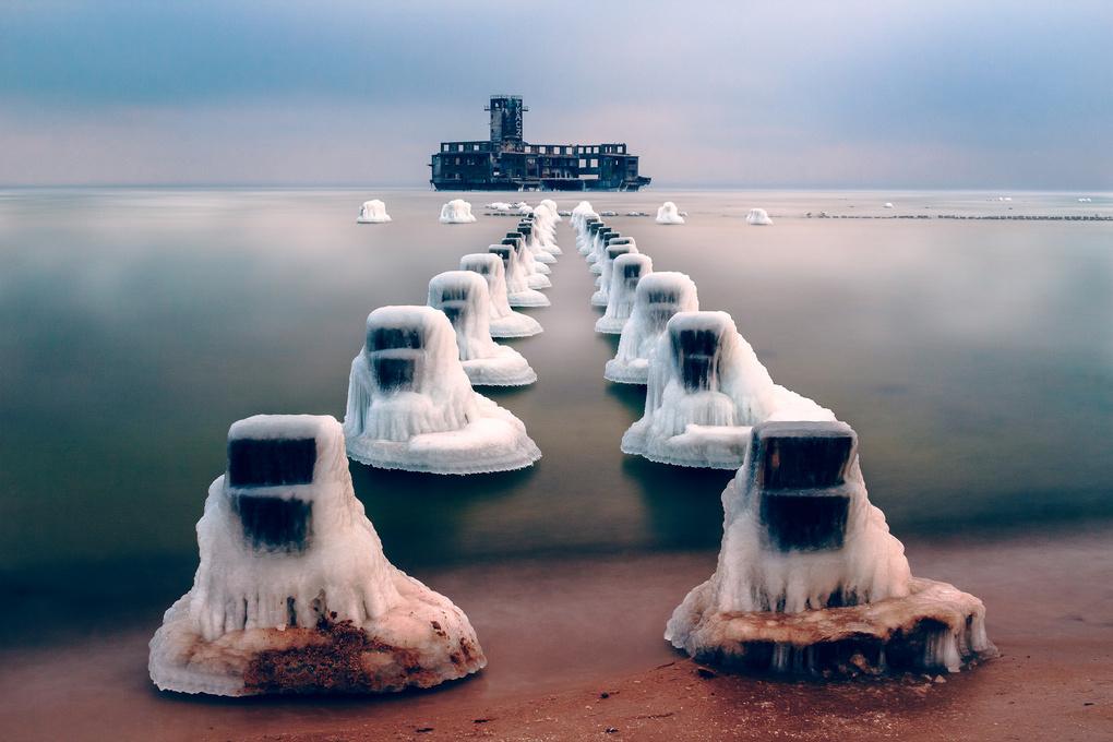 -16°C at Poland's Baltic Sea by Matthias Dengler