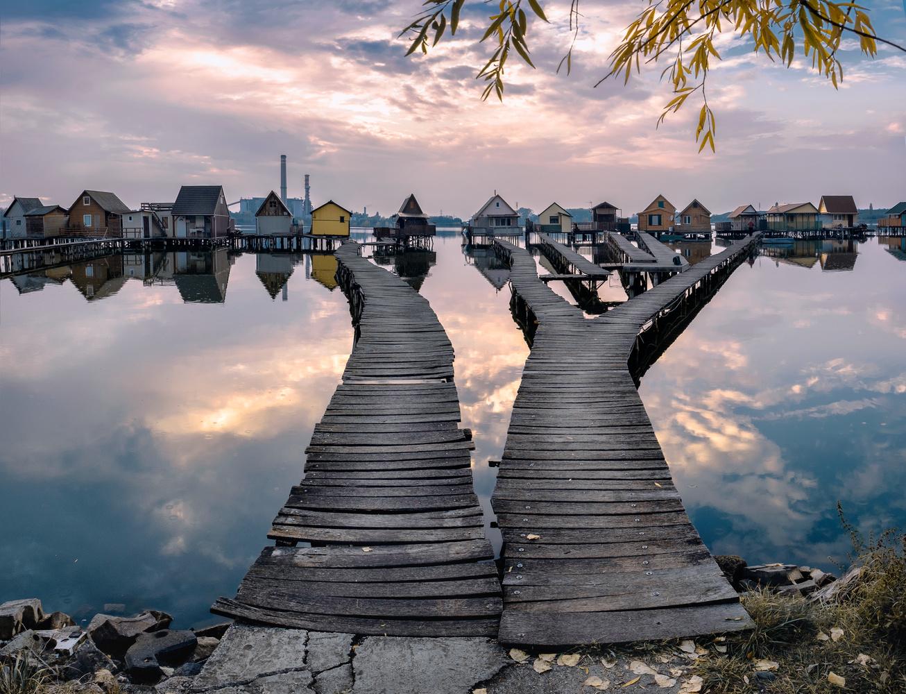 Stilt village. by Matthias Dengler