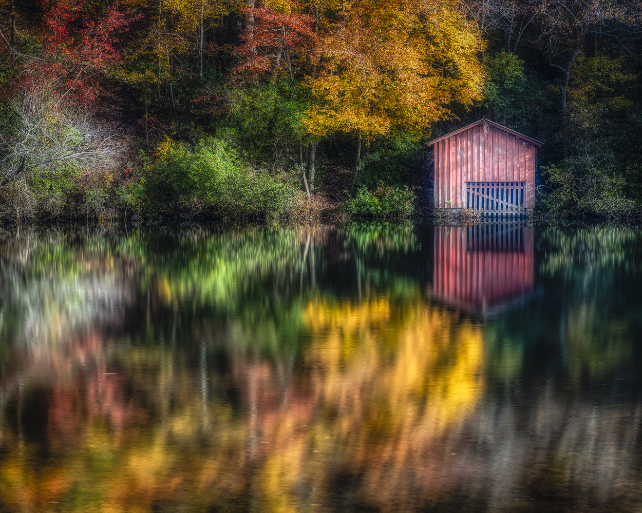 DeSoto Falls Boathouse by Mark Peavy