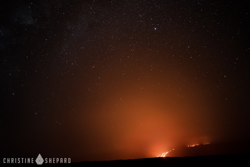 Hawaii Lava Flow Under the Stars by Christine Shepard