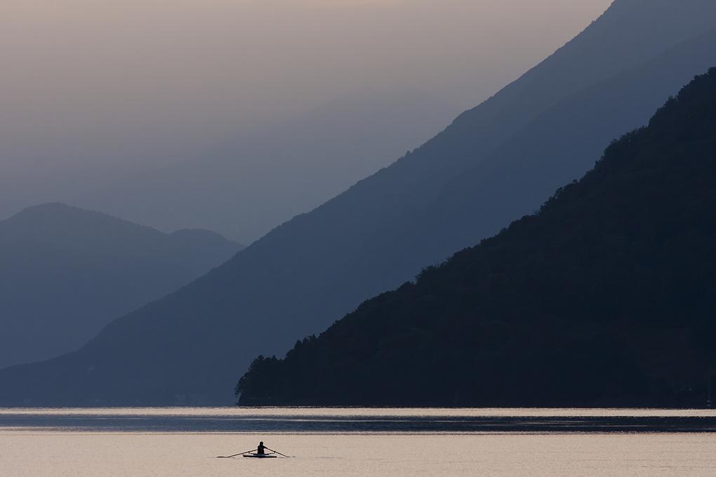 Practice - Lake Lugano, Switzerland by Alan McCord