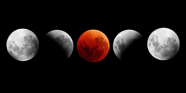 Super Blue Blood Moon by Kieran Stone