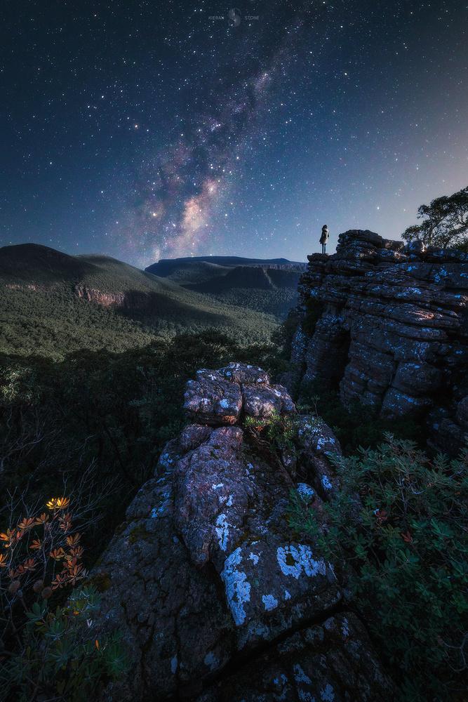 Moonlit Grampians by Kieran Stone