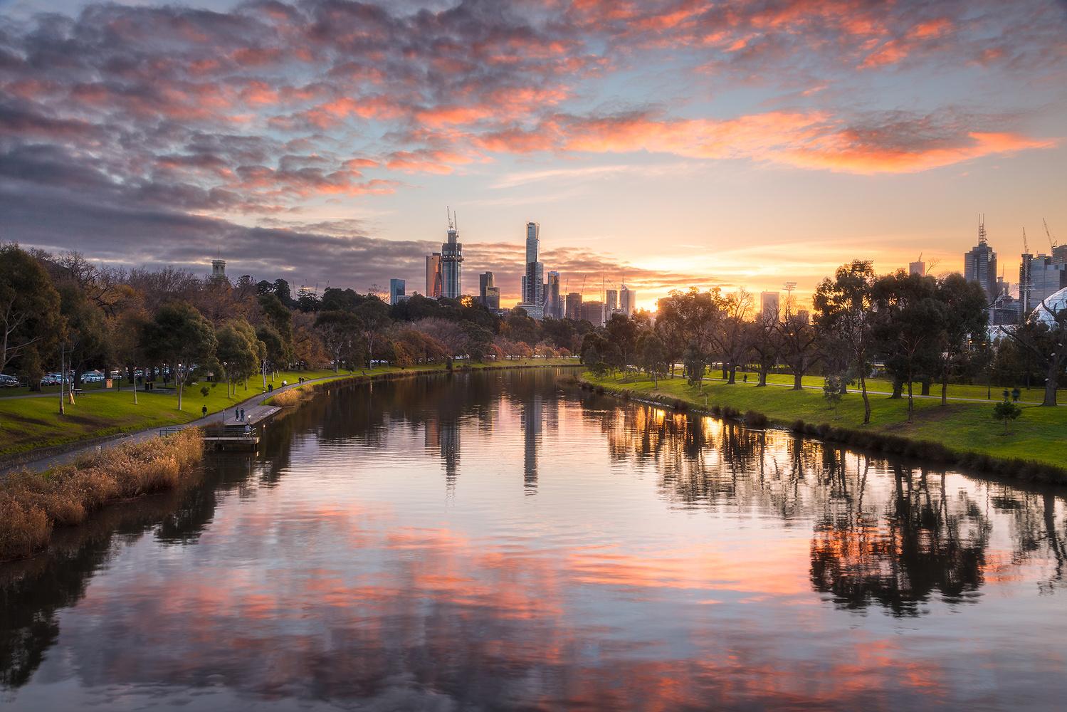 Yarra River Sunset by Kieran Stone