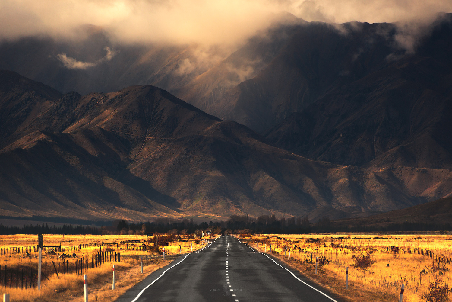 On the road by Kieran Stone