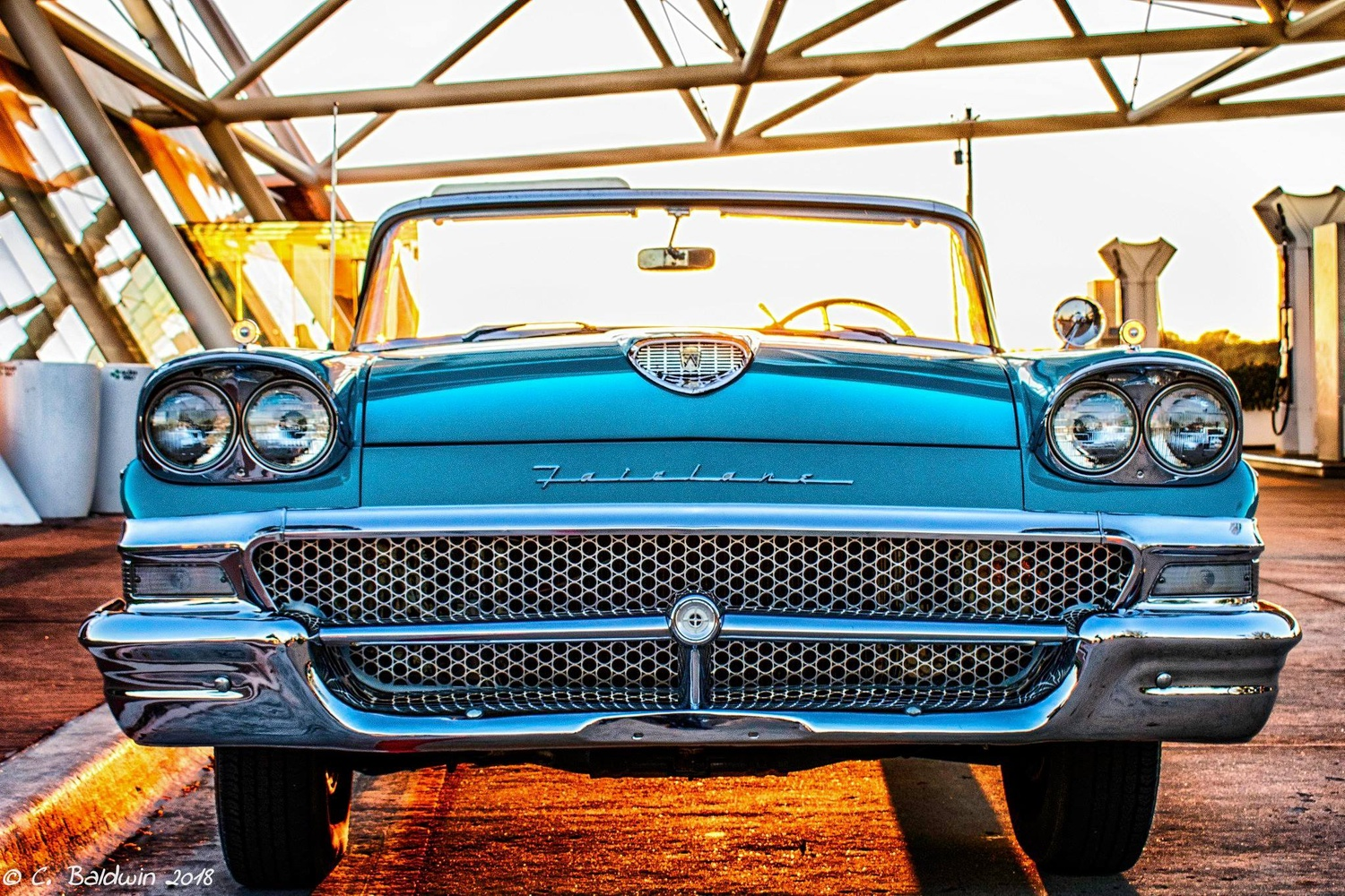 1958 Ford Fairline 500 Convertible by Clifford Baldwin