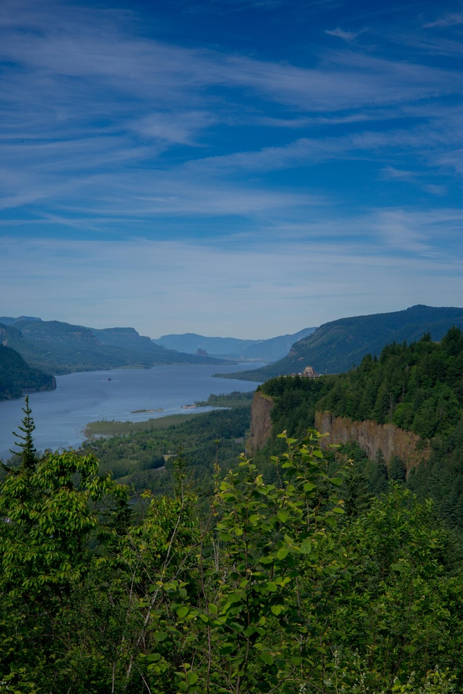 Overlooking Columbia gorge by Doc M