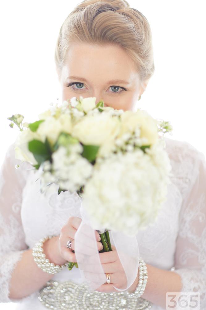 Bridal Portrait with Flowers by Kaden Classen