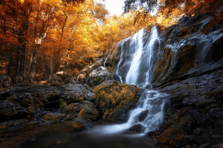 Dark Hollow Falls  by Oleksandr Mokrohuz