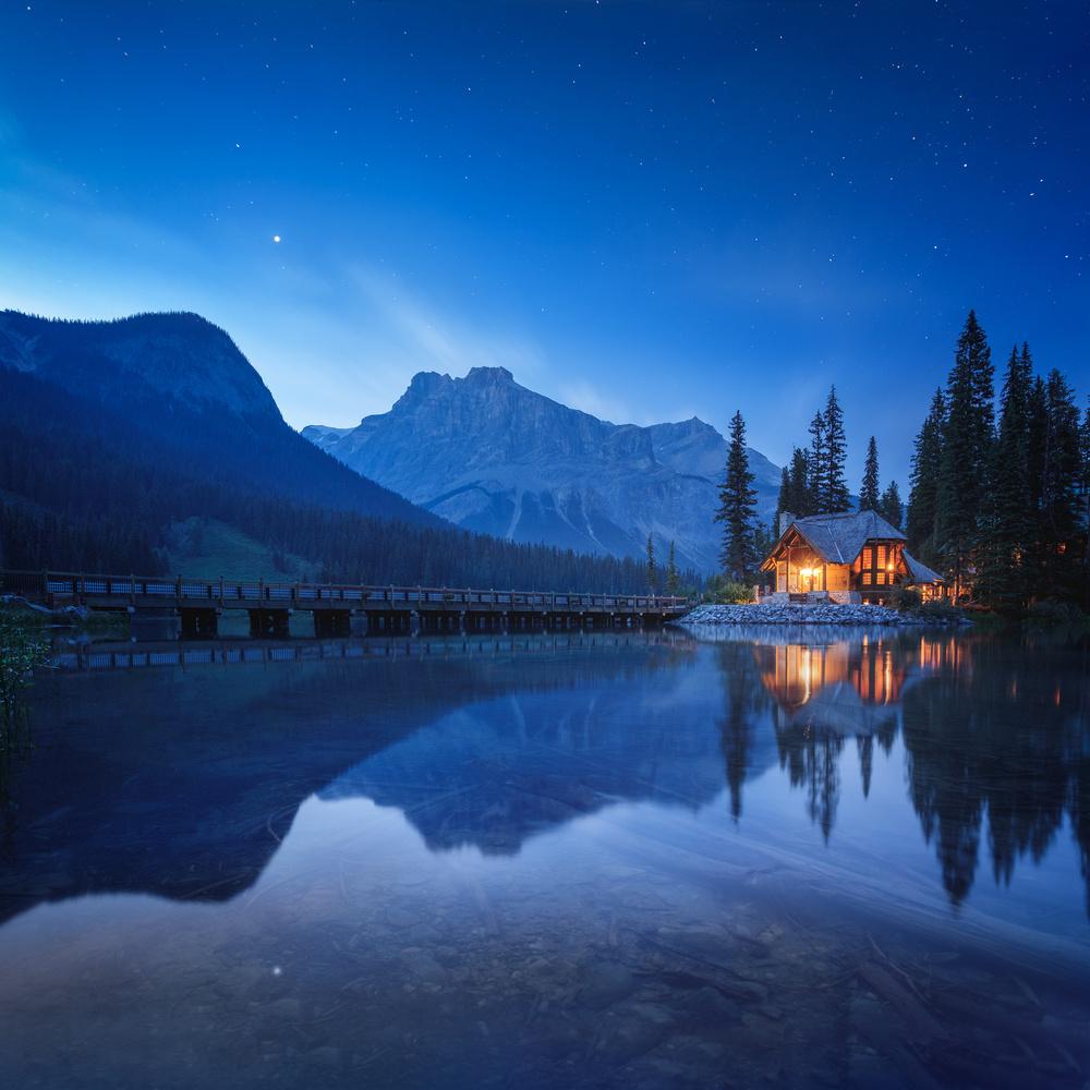 Emerald Lake by Oleksandr Mokrohuz