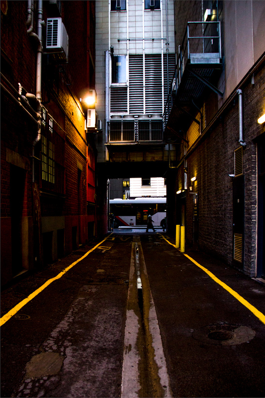 Wintery alley by Jacqui Munn