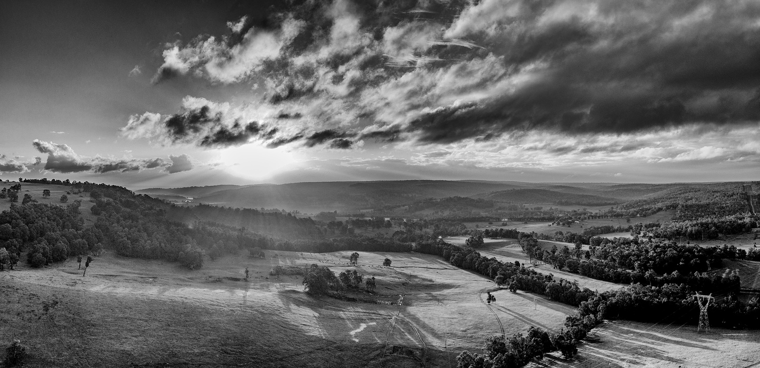 view over local farm land by Cam Steele