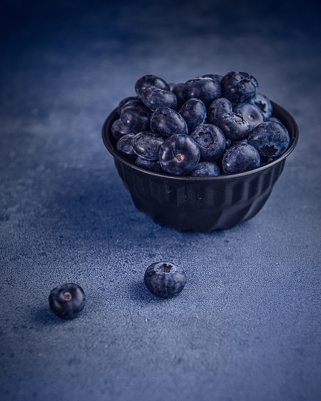 Blue berries by Maryna Cotton