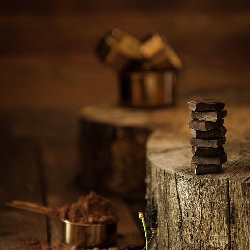 Dark and moody chocolate by Maryna Cotton