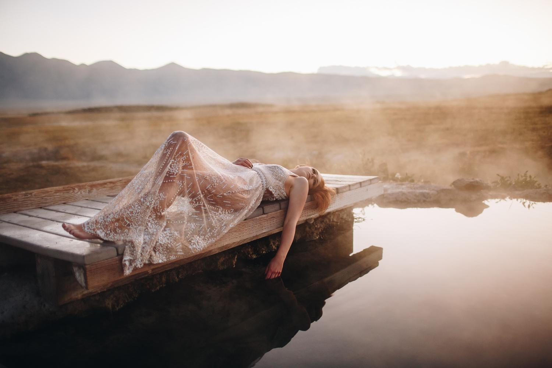 Hot spring sunrise by Nic Hilton