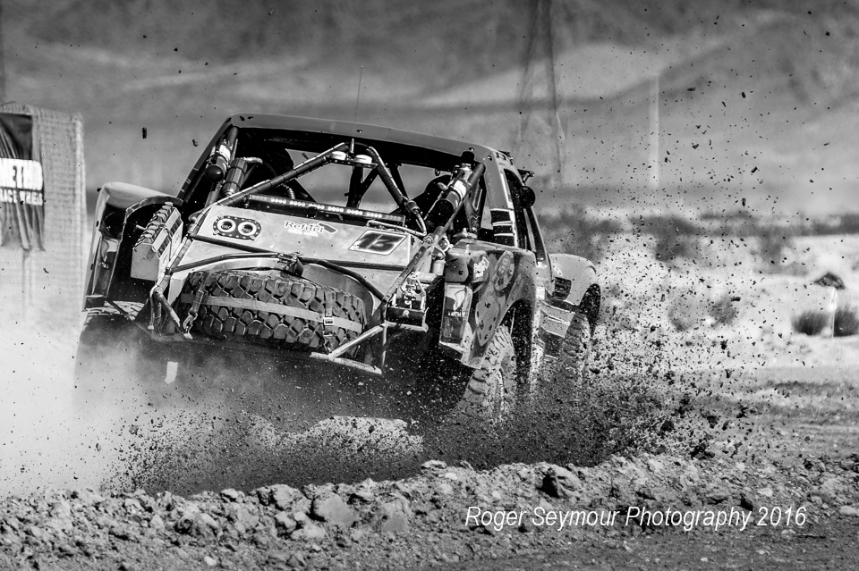 Flyin' Dirt at the Mint 400 by Roger Seymour