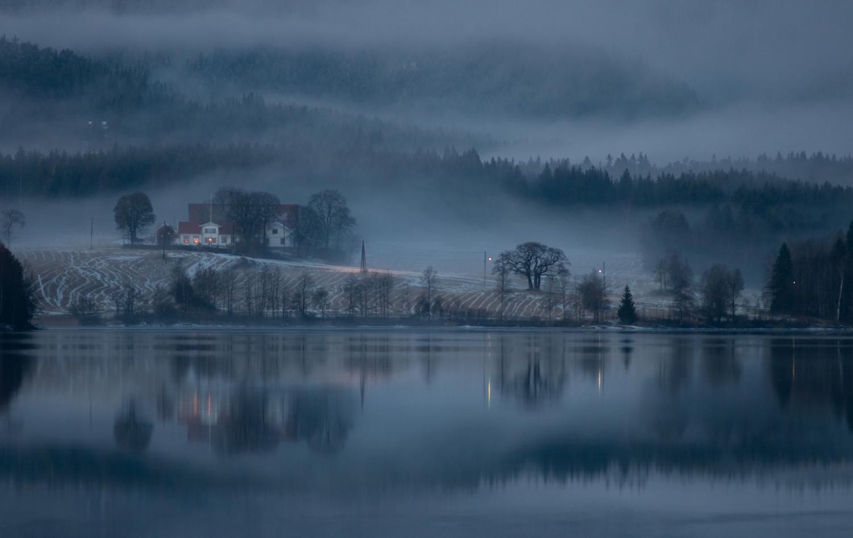 Maridalsvannet by Leif Hegdal