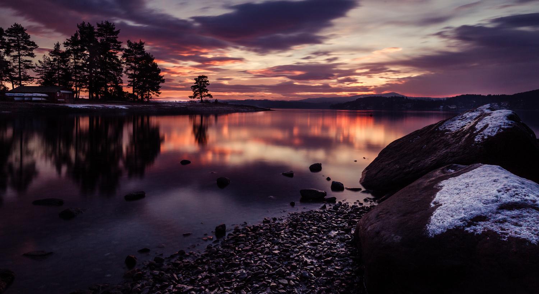Sunset in Asker II by Leif Hegdal