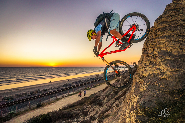 Beach sunset with gnar by Brian Plunkett