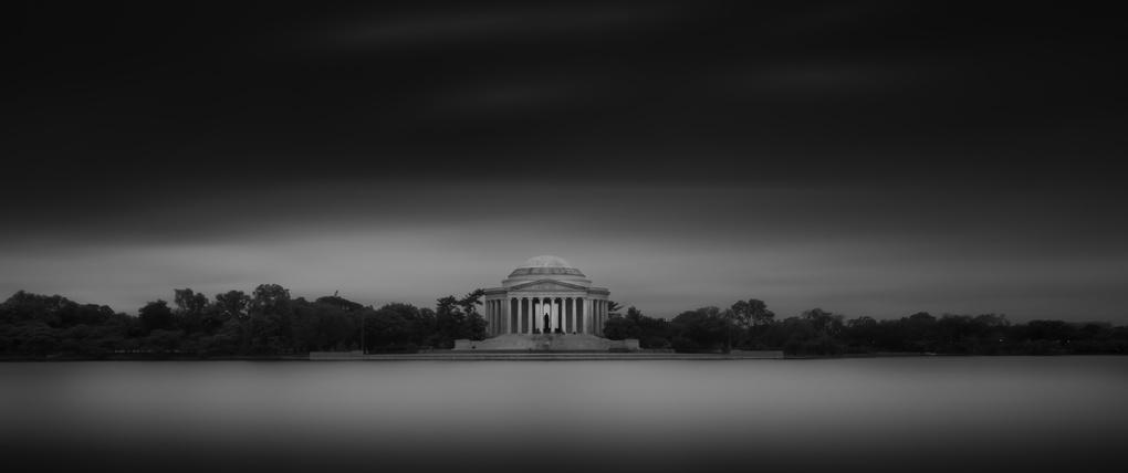 Jefferson Memorial B&W by Dan Goldberger