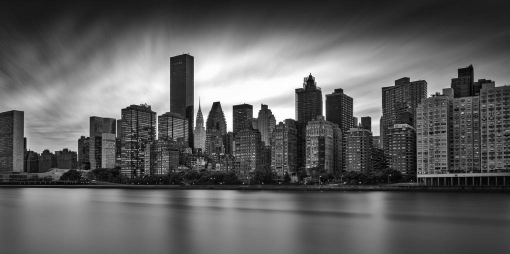 Roosevelt Island B&W by Dan Goldberger