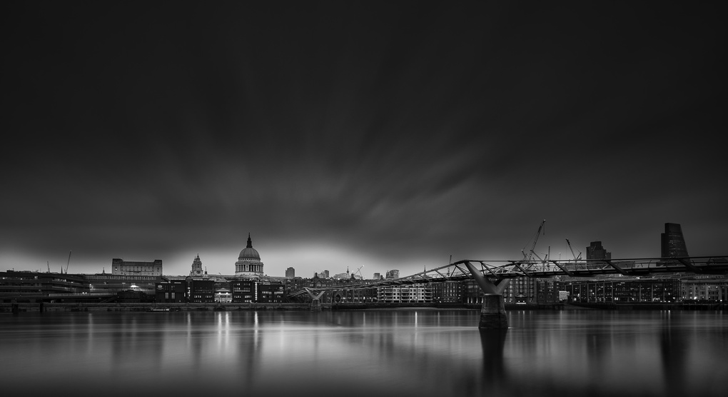 Bridge to St. Paul B&W by Dan Goldberger