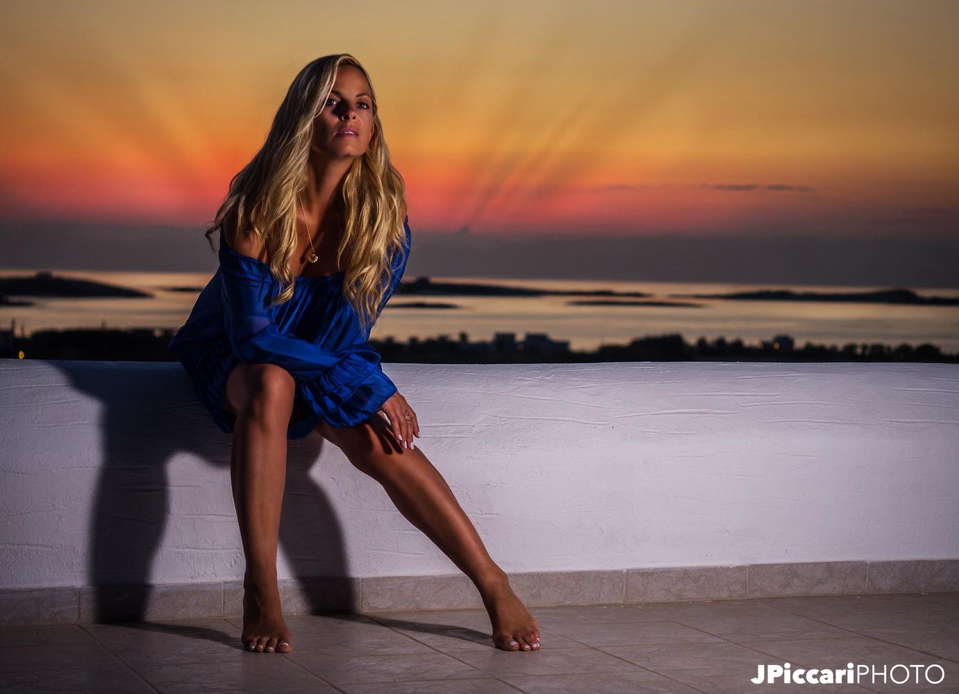 Afroditi's Grecian Sunset by Justin Piccari