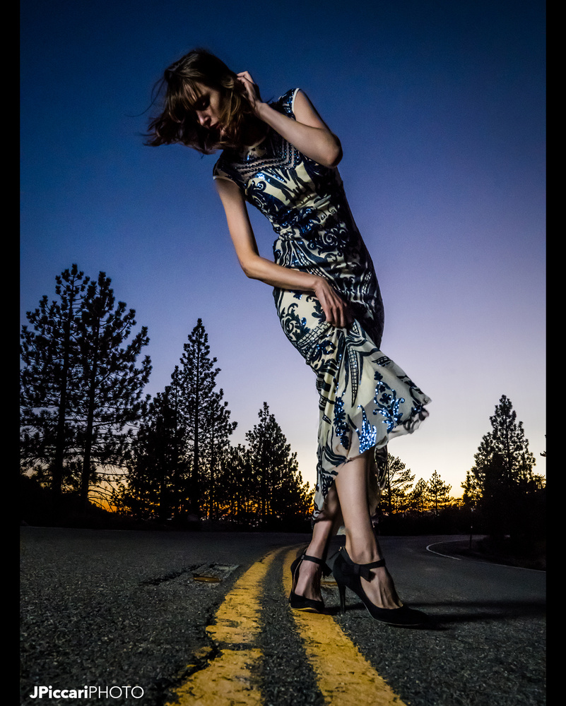 Amanda wearing Dalia MacPhee by Justin Piccari