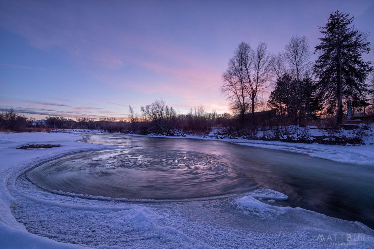 Ice Wheel Sunset by Matt Burt