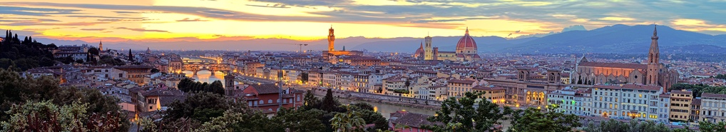 Florence and the Arno a River at Sunset by JR Jacobs
