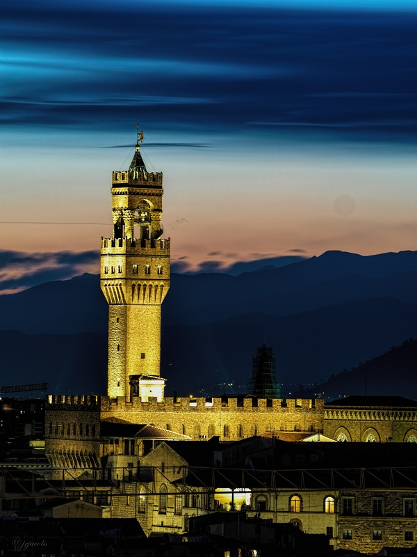 The Palazzo Vecchio at Sunset by JR Jacobs