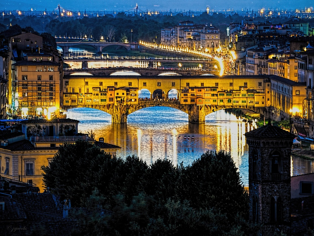 The Ponte Vecchio at Sunset by JR Jacobs