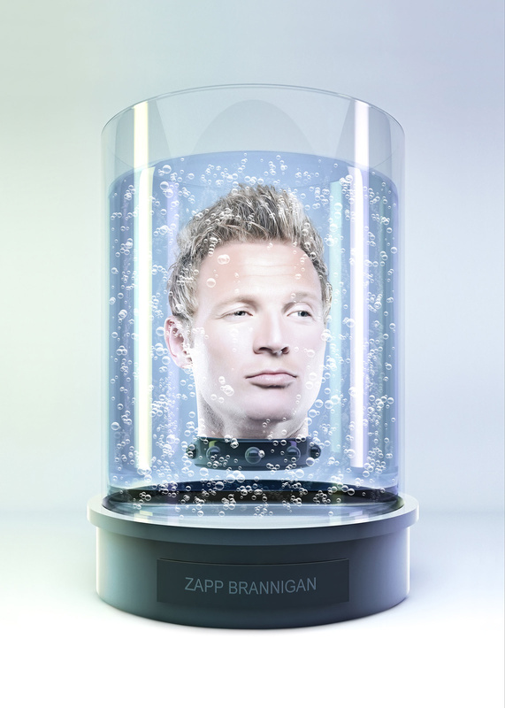 Heads in a Jar - Zapp Branningan by Tommy Yung